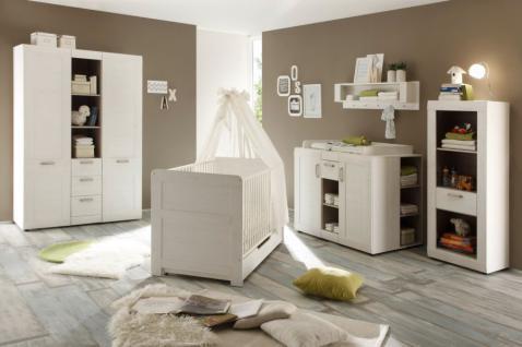 Babyzimmer komplett Set Landi Anderson Pinie weiß 6-teilig - Vorschau 2