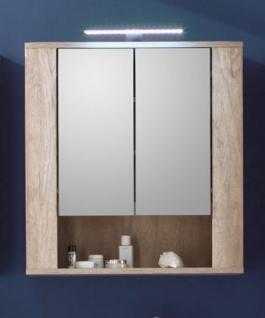 Badezimmer Spiegelschrank SUN Monument Eiche hell mit Touchwood dunkel
