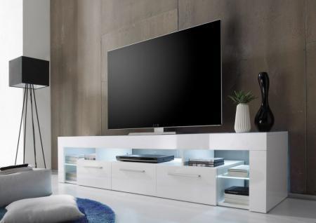 Lowboard TV-Unterteil TV-Board COUNT weiß Hochglanz 200 cm