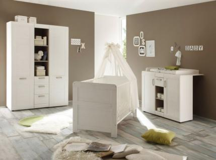Babyzimmer komplett Set Landi Anderson Pinie weiß 3-teilig