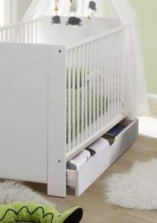 Babyzimmer Olivia in weiß und blau komplett Set 5-teilig mit Kleiderschrank Babybett Wickelkommode mit Regal und Wandregal - Vorschau 4