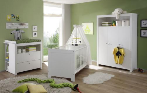 Babyzimmer Wickelkommode Olivia mit 2 Regalen weiß 96 x 102 x 76 cm - Vorschau 2