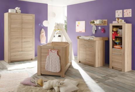 Kleiderschrank Babyzimmer Carlotta 3-türig Eiche sägerau - Vorschau 4