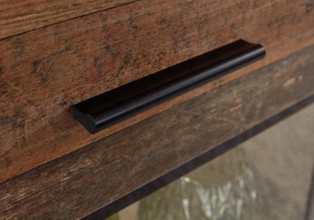 Wohnwand Mango in Old Used Wood Shabby Design mit Matera grau Schrankwand 5-teilig 231 x 182 cm - Vorschau 4