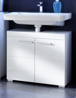 Badezimmer Waschbeckenunterschrank Amanda in Hochglanz weiß Badmöbel 60 x 56 cm Badschrank