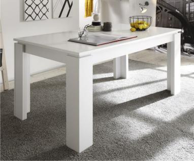 Esstisch Lotte in Pinie Struktur weiß ausziehbar von 160 cm auf 200 cm