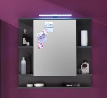 Spiegelschrank Badmöbel Tetis Graphit grau 72 x 72 cm
