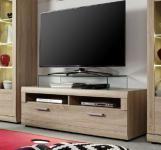 TV Hifi Unterteil Lowboard Fora Sonoma Eiche sägerau hell 130 x 45 cm