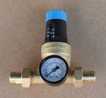 """Druckminderer Watts 1/2"""" mit Verschraubung+Manometer (1398#"""