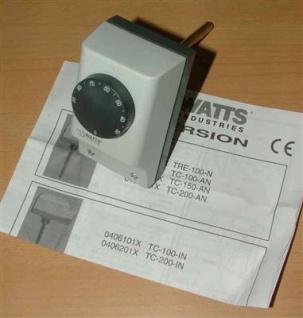 Tauchthermostat, Watts, Außenverstellung, 100mm Länge (Auswahlmöglichkeiten)