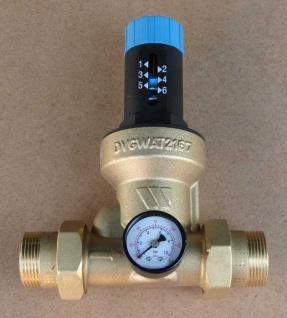 """Druckminderer Watts 1 1/2"""" mit Verschraubung+Manometer (1402#"""