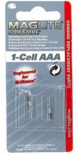 Mag Lite® 2 Stück Ersatzlampen für 1-Cell AAA Taschenlampen (Auswahlmöglichkeiten)