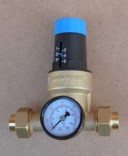 Druckminderer Watts 15mm Lötverschraubung + Manometer (Auswahlmöglichkeiten)