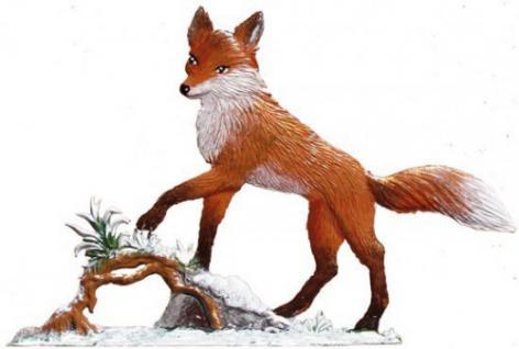 Fuchs Papa/Winter stehend