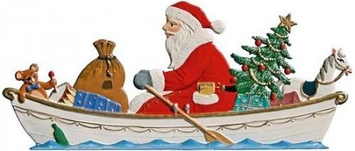 Nikolaus im Ruderboot zum Stellen