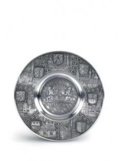 Zinn Teller Bayern mit Wappen
