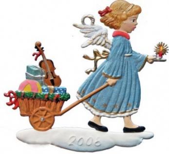 Engel mit Geschenkewagen 2008