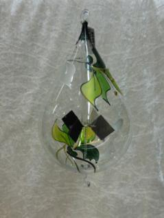 Lichtmühle Tropfen 8cm Orchidee grün Ö+H