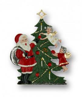 Nikolaus mit Engel am Baum