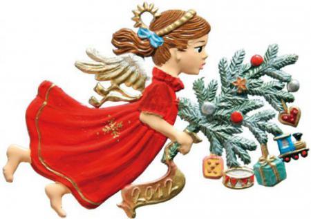 Engel mit Geschenkezweig 2012