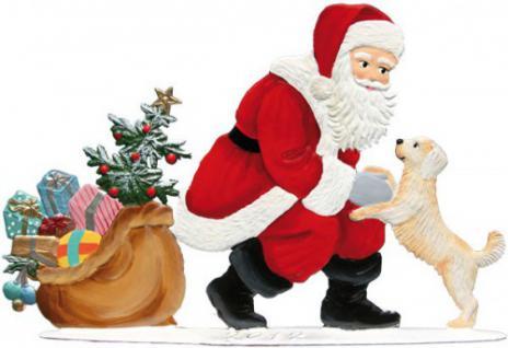 Nikolaus mit Hund 2012 zum Stellen