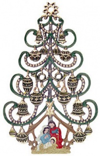 Christbaum mit Krippe - Vorschau
