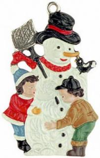 Schneemann mit Kindern