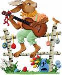 Zinn Hase spielt Gitarre 2014 zum Stellen