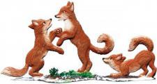 Fuchs Kinder/Winter stehend
