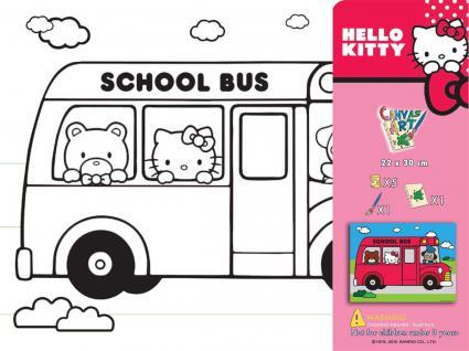 HELLO KITTY 63195 - Keilrahmen 22x30cm mit 5 Farben