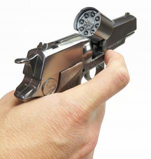 Gonher 125/0 - Pistole Astra Police 8-Schuss 19 cm, Zink Antik - Vorschau 3