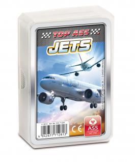 TOP ASS Quartett Jets 71281 - Kartenspiel ab 6 Jahre