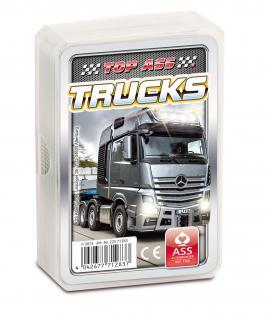 TOP ASS Quartett Trucks 71283 - Kartenspiel ab 6 Jahre