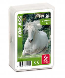TOP ASS Trumpfquartett Pferde 71991 - Kartenspiel ab 6 Jahre