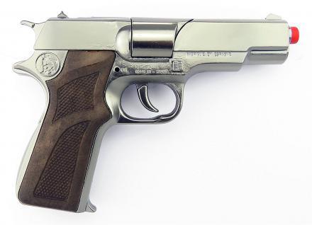 Gonher 125/0 - Pistole Astra Police 8-Schuss 19 cm, Zink Antik - Vorschau 5