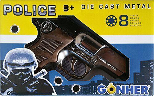 Gonher 125/0 - Pistole Astra Police 8-Schuss 19 cm, Zink Antik