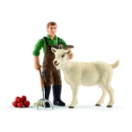Schleich 42375 - Bauer mit Ziege