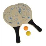 Simba 107403472 - Beach Ball Set aus Holz - 2-sortiert - mehrfarbig