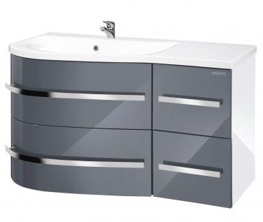 Waschtisch Waschplatz Waschbecken Schrank grau 90cm UVP 699, 99€ 7100719