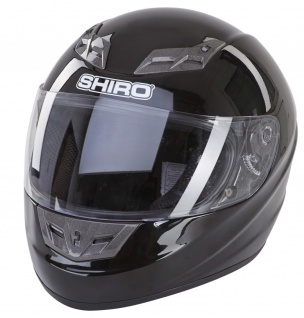 Motorradhelm Helm Integralhelm Schnellverschlusssystem schwarz Visier L 7130072