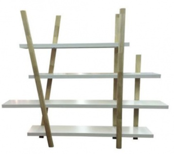 Raumtrenner Raumteiler Bücherregal Regal Holz Weiß Neu Ovp 252007