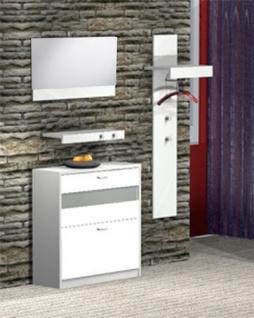Garderoben-Set Napoli Garderobe Schuhschrank Spiegel 4-tlg. NEU & OVP 2521175