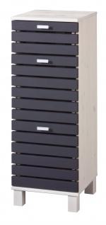 Unterschrank Schrank Badschrank grau Massivholz UVP 119, 99€ Kiefer 7100665