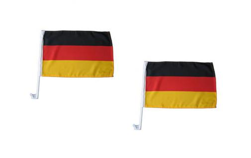 Autofahne Autoflagge Fahne Flagge Deutschland 2Stck. NEU & OVP EM 110149