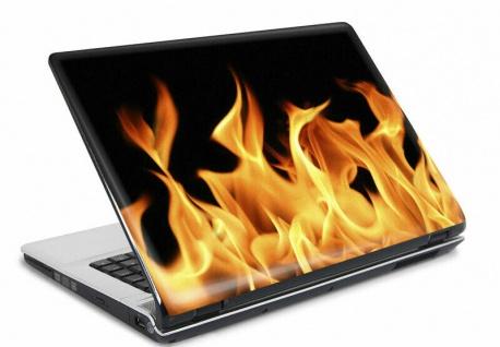 Laptop Notebook Netbook Skin Sticker Folie Schutz Aufkleber Fire 26x19 NEU
