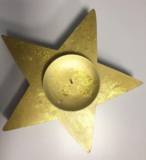 Kerzenhalter Kerzenständer Stern gold Weihnachtsdeko NEU 2521920