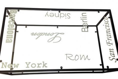 Couchtisch Beistelltisch Tisch Glas schwarz Städtenamen London New York 2520382