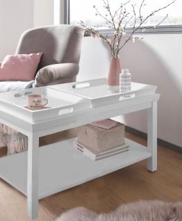 Tisch Beistelltisch Couchtisch Tablett weiß Tabletttisch Holz UVP399, 90€ 2520609