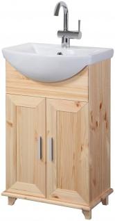 Waschtisch Waschplatz Waschbecken Schrank natur 46cm UVP 129, 99€ 7100460