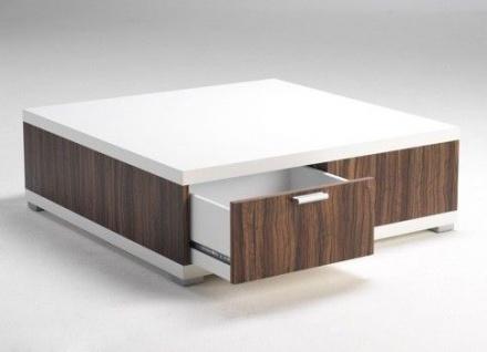 Couchtisch Tisch weiß Olive-Dekor Beistelltisch Schublade Holzstruktur 2521172